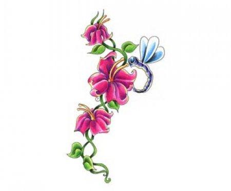 Эскиз цветы