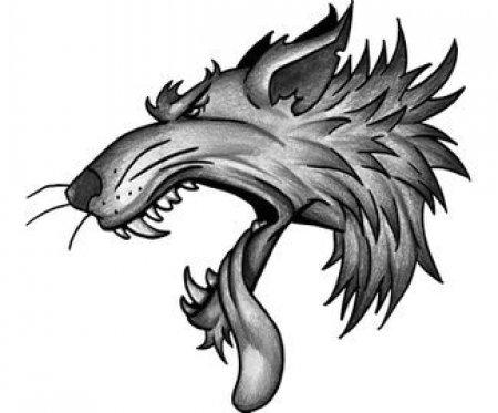 Эскизы черно-белые волка. Часть 1