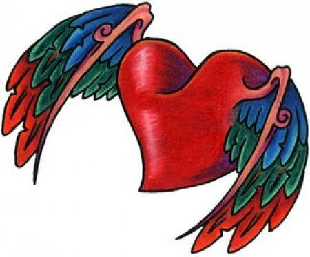Tatu сердечко с крыльями искусство