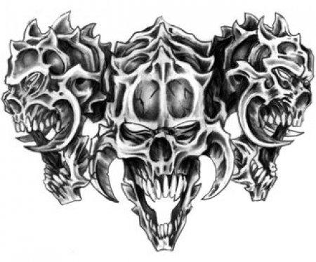Эскизы черепа часть 4