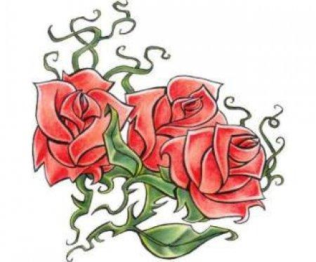 Эскизы татуировок цветов (tattoo design flowers.