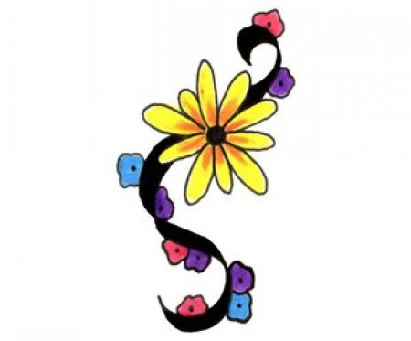 эскизы цветов: