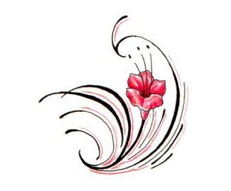 Эскизы цветов.  Часть 10 Тату салон Tattoo.