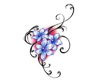 Эскиз тату цветок