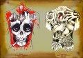 Эскизы татуировок - Дизайн флешей спин