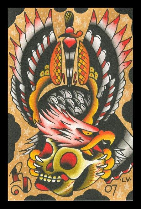 Эскизы татуировок old school