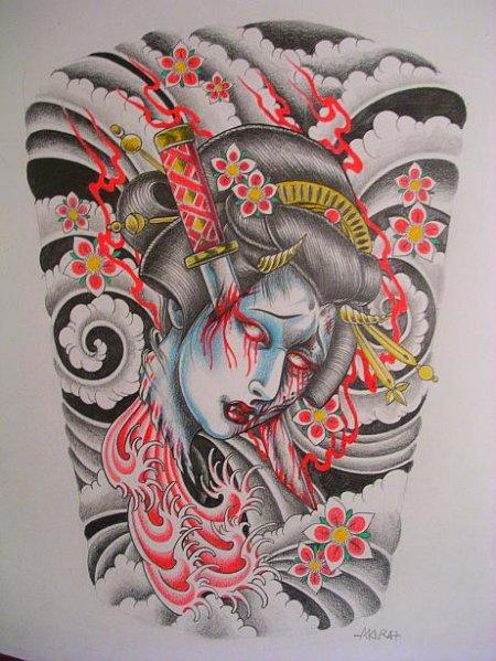 Tattoo-House.Ru Версия для печати Эскизы татуировок Япония - Флеши Япония 2