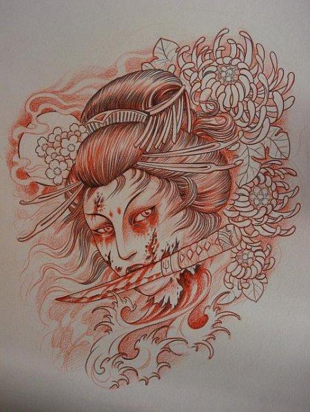 Фото эскизы японских тату