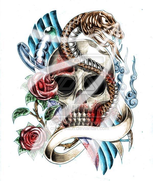 эскизы японских татуировок: