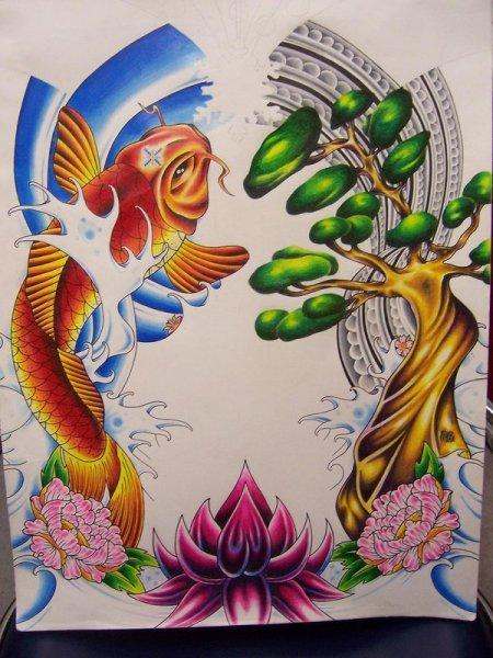 Эскизы татуировок - Флеши Япония и стилизация.