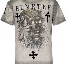 Футболка Remetee (by Affliction ) - Skull Wave.