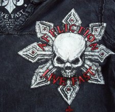 Футболка Affliction - Black Cross Skull.