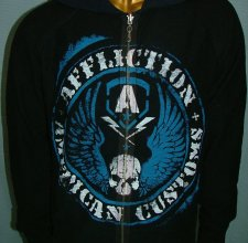 Свитер, HOODIE - AFFLICTION: DEATH SPADE Reversible.