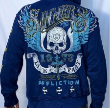 Свитер, HOODIE - AFFLICTION: SIN CITY SINNERS Reversible.