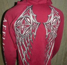 Свитер, HOODIE - AFFLICTION: Skeleton Wings.