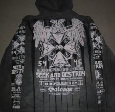 Свитер, HOODIE - Salvage: SEEK AND DESTROY EAGLE.
