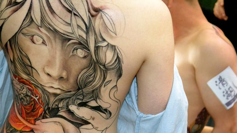 спина японская татуировка