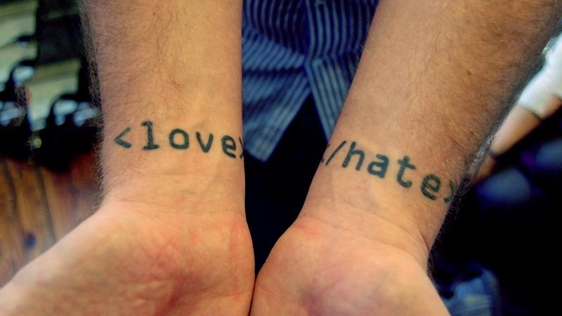 татуировака любовь ненависть